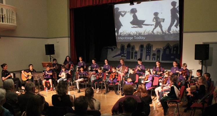 Younger members performing at Oidhreacht Eochaille